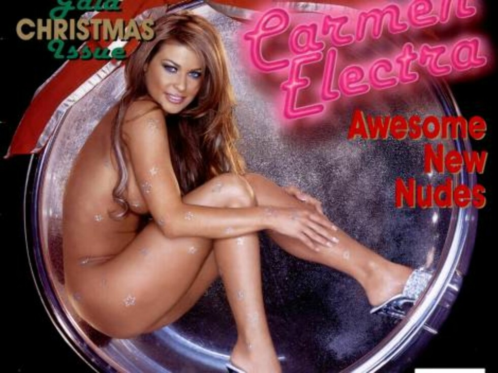 AVKLEDD: Carmen Electra iført diamanter i Playboy. En bestselger! Foto: AP/Scanpix