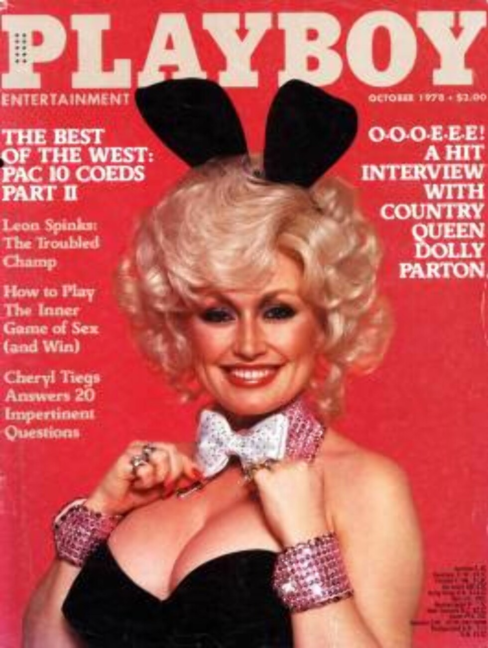 AVKLEDD: Selveste Dolly Parton frekket seg til i bladet i sin tid ... Foto: AP/Scanpix