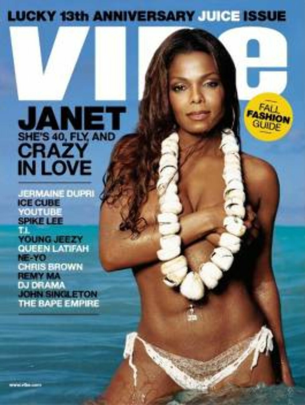 AVKLEDD: Sangfuglen Janet Jackson viste nylig frem en nyslank kropp på forsiden av Vibe. Du kan tro bildet skapte furore! Foto: All Over Press