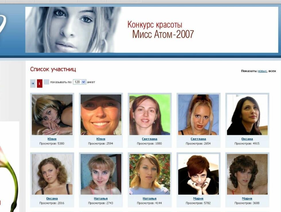 KVINNER: Det skal ikke stå på engasjementet hos de russiske kjernekraftverk-kvinnene. På Nuclear.ru kan alle som vil melde seg på missekonkurransen. Foto: Nuclear.ru
