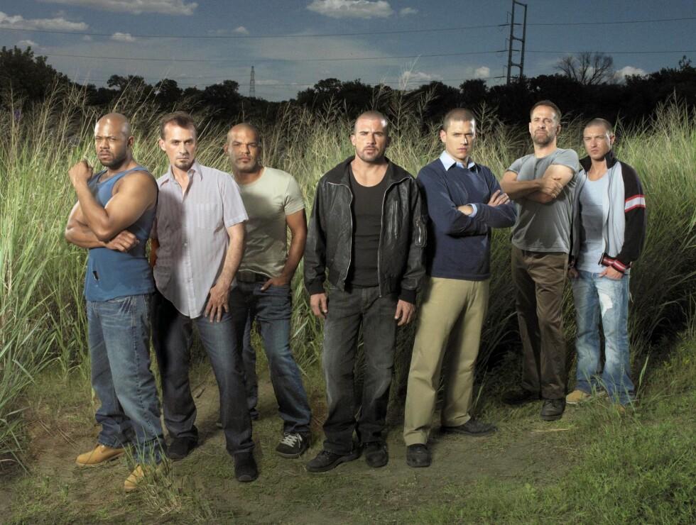 POPULÆR GJENG: Lane Garrison (t.h) og de andre skuespillerne i Prison Break har blitt et populært innslag på norske TV-skjermer. Foto: TV3