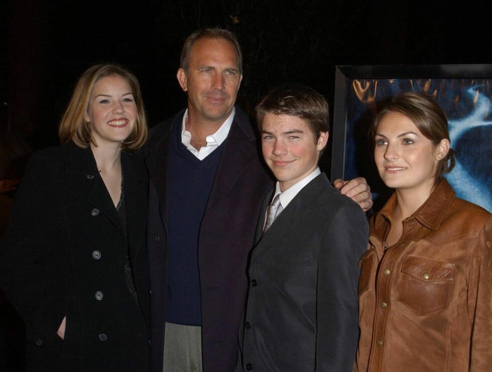 BARN: Kevin har fra før av Lily, Joe og Annie med den tidligere kona Cindy. Foto: All Over Press