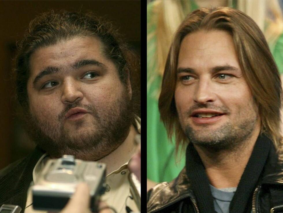 """KOLLEGER: Blir Jorge og Josh, bedre kjent som henholdsvis """"Hurley"""" og """"Sawyer"""" i """"Lost"""", det nye superparet? Trolig ikke. Foto: All Over Press"""