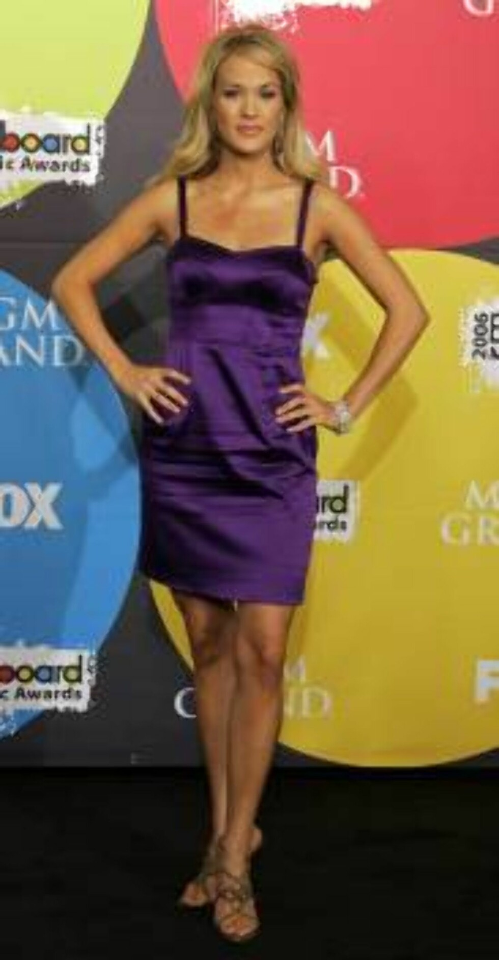 Carrie Underwood poses backstage at the Billboard Music Awards in Las Vegas, Monday, Dec. 4, 2006. (AP Photo/Chris Carlson) Foto: AP