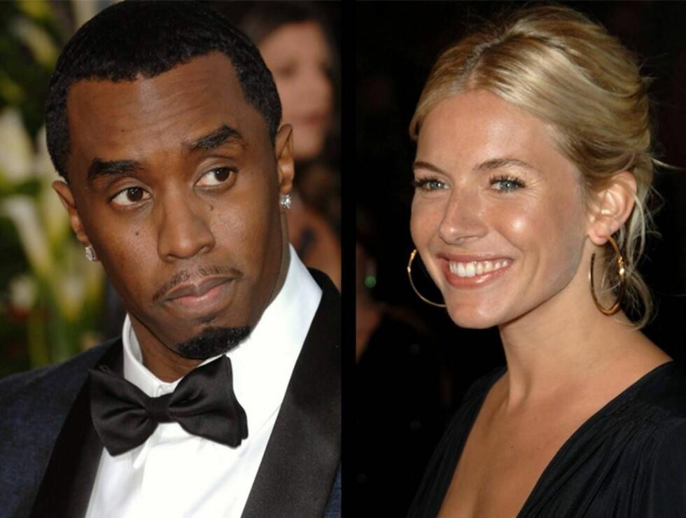TETT KONTAKT: Er Diddy og Sienna mer enn bare gode venner?