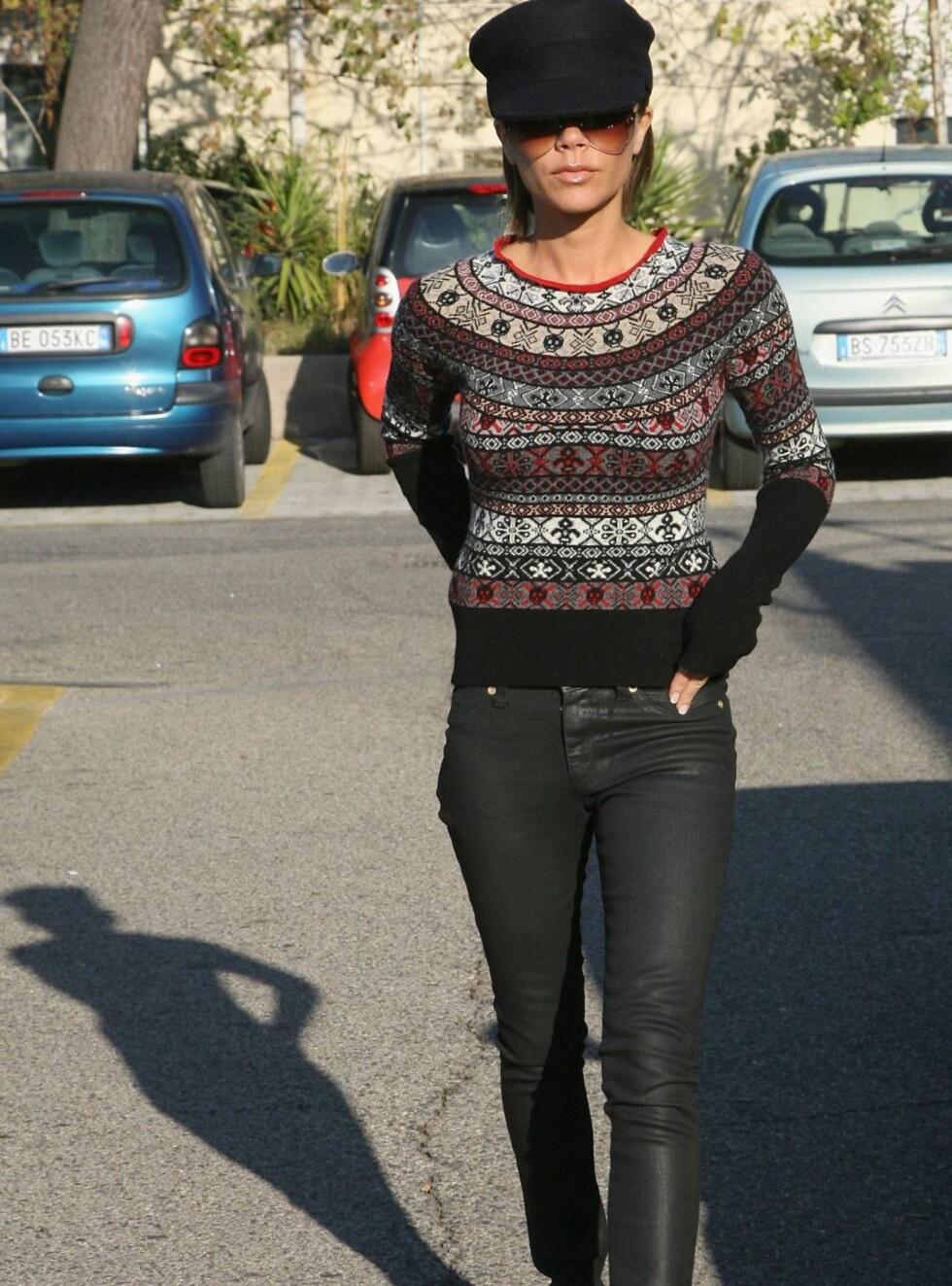 MAGER: Victoria Beckhams figur har gitt henne kallenavnet Skeletal Spice. Foto: All Over Press