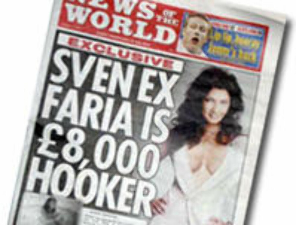 AVSLØRT: Englands største avis sparer ikke på konfekten...