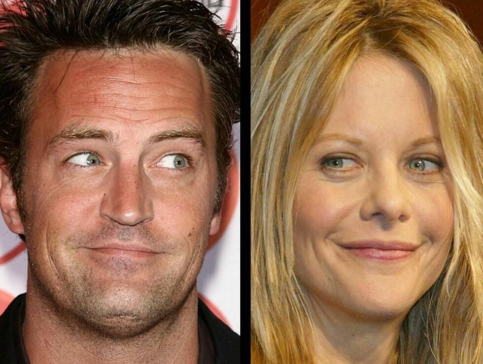 SAMMEN?: Ifølge flere vitner, har Matthew Perry og Meg Ryan virkelig funnet tonen ... Foto: All Over Press