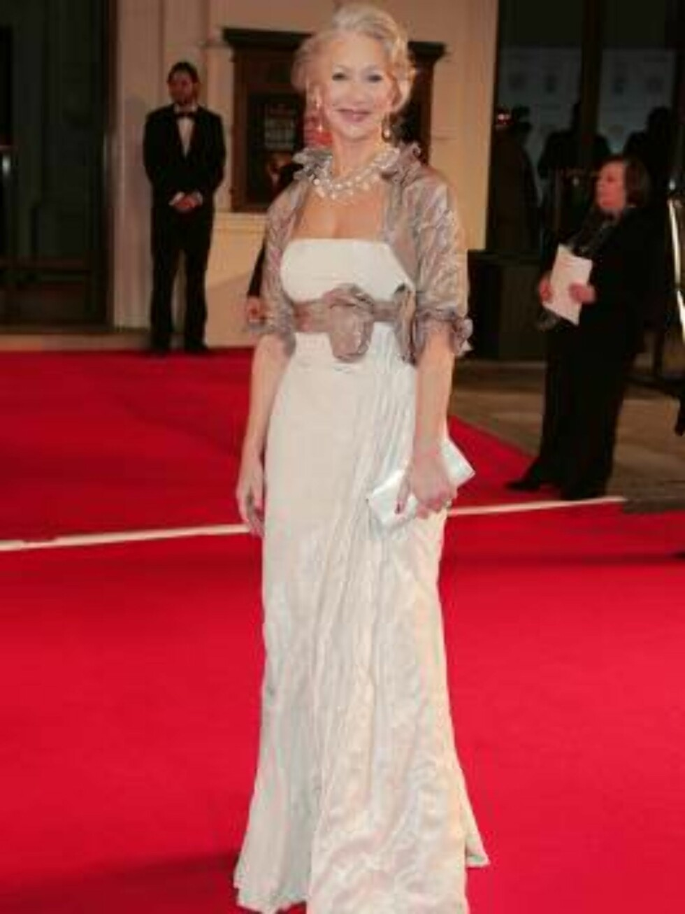 London 2007-02-11  Dame Helen Mirren arriving  at the Orange British Academy Film Awards held at the Royal Opera House in London. Photo:  Axel  Code: 3008  COPYRIGHT STELLA PICTURES Foto: Stella Pictures
