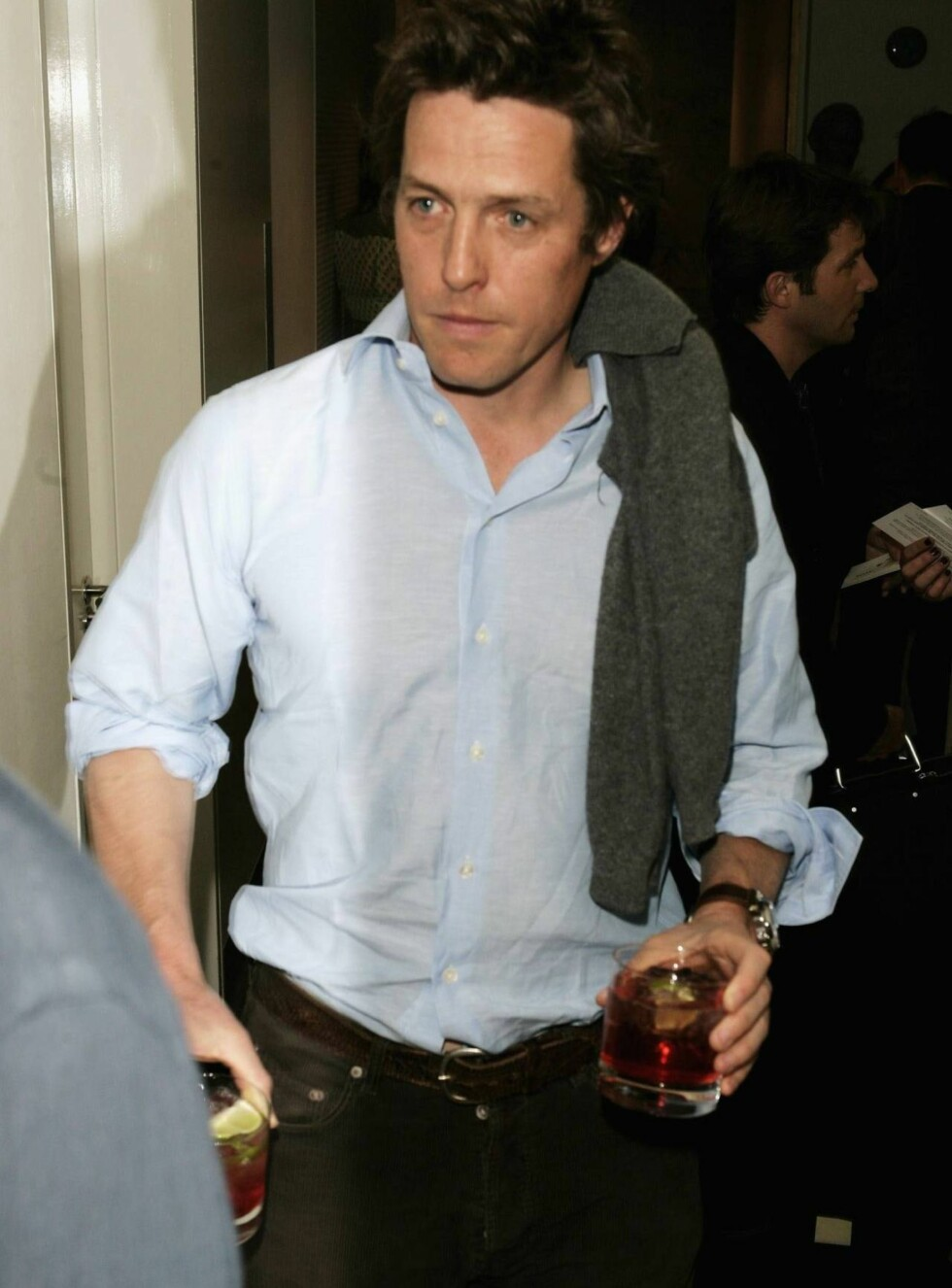 IKKE INVITERT: Hugh Grant får ikke være med å feire ekskjærestens bryllup. Foto: All Over Press