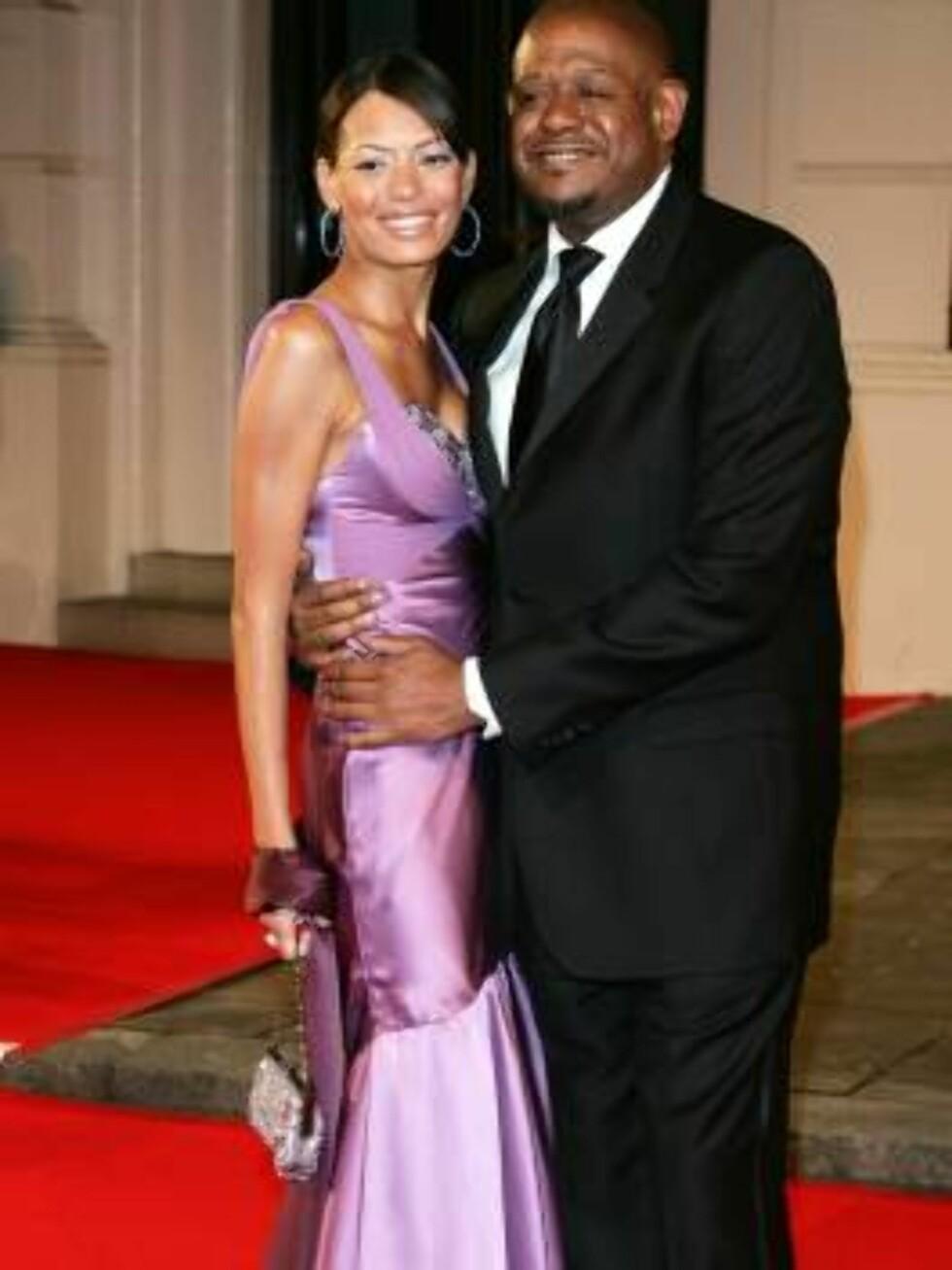 STOLT: Forest Whitaker har all grunn til å være stolt av sin flotte kone, Keisha. Foto: SCANPIX