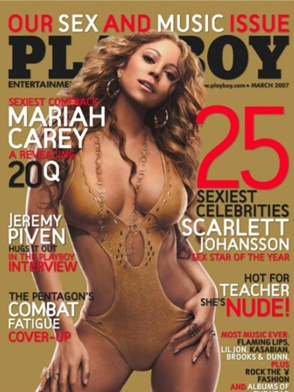 SEXY: Mariah Carey har mye fint å vise fram, når hun snart dukker opp i Playboy! Foto: faksimile
