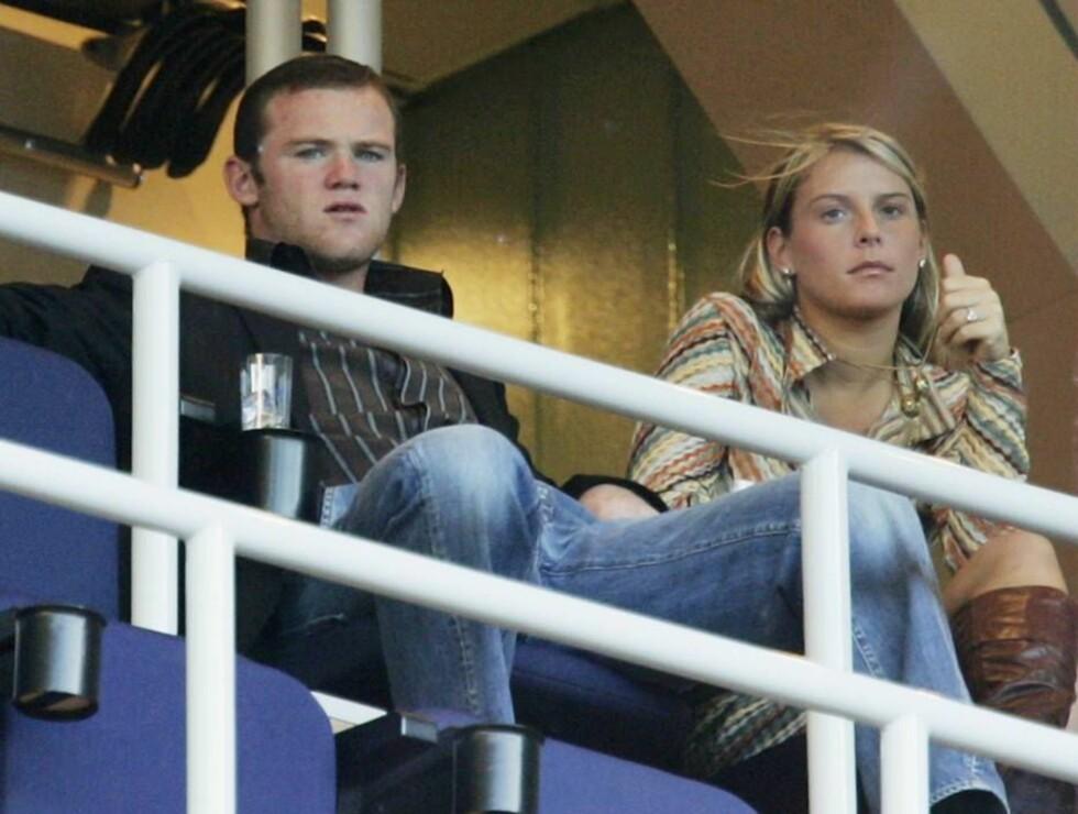 SKUFFET: Coleen McLoughlin og Wayne Rooney skal være frustererte over at Take That ikke ville spille i hennes bursdagselskap. Foto: All Over Press