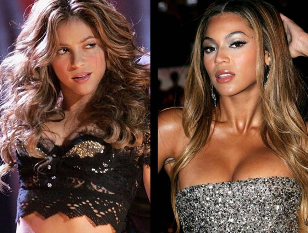 SEXY SAMMEN: Shakira og Beyonce