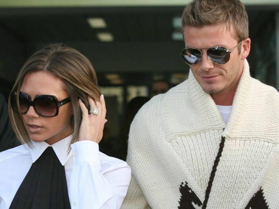 BLIR TV-FJES? Victoria og Beckham er store stjerner i Europa. Nå har de muligheten til å erobre USA også. Foto: All Over Press