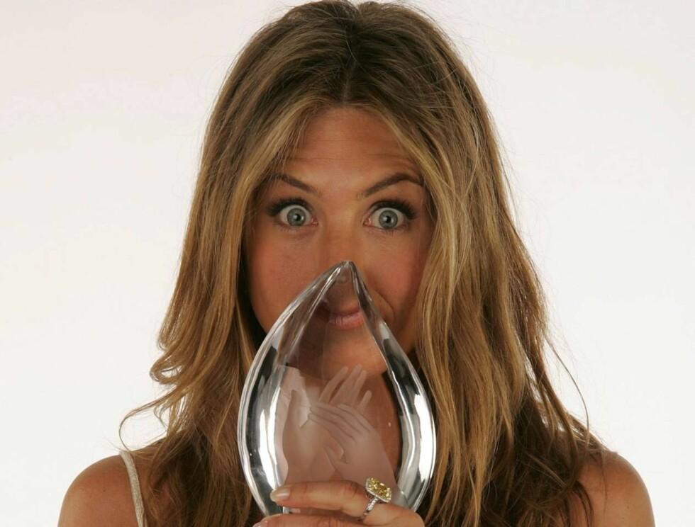 LEI: Jennifer Aniston har i over ti år drømt om en ny nese. Nå er den operert smalere hos Cameron Diaz' og Ashlee Simpsons kirurg. Foto: All Over Press