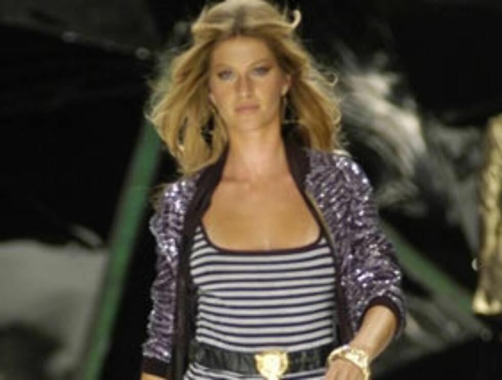 PROFF: Gisele er en av verdens mest ettertraktede catwalk-modeller. Foto: Stella