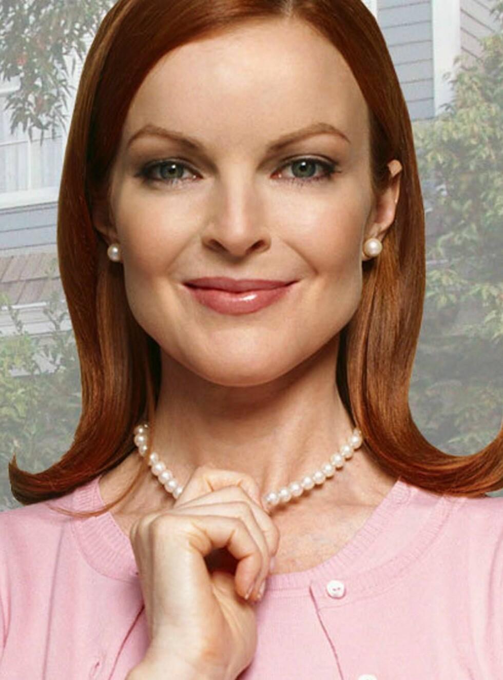 """GLAD: - Marcia klager ikke i det hele tatt, forteller en kilde om """"Frustrerte fruer""""-stjernens graviditet. Foto: TV2"""