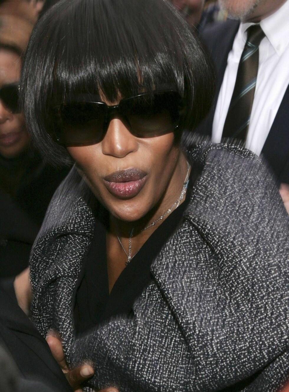 HISSIGPROPP: Naomi Campbell vet å lage stor ståhei ut av en liten disputt. Foto: All Over Press