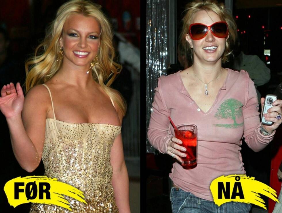 FORANDRING FRYDER - IKKE: Britney har gått fra ungpike-idol til en av de hardeste festløvene i Hollywood på få år....