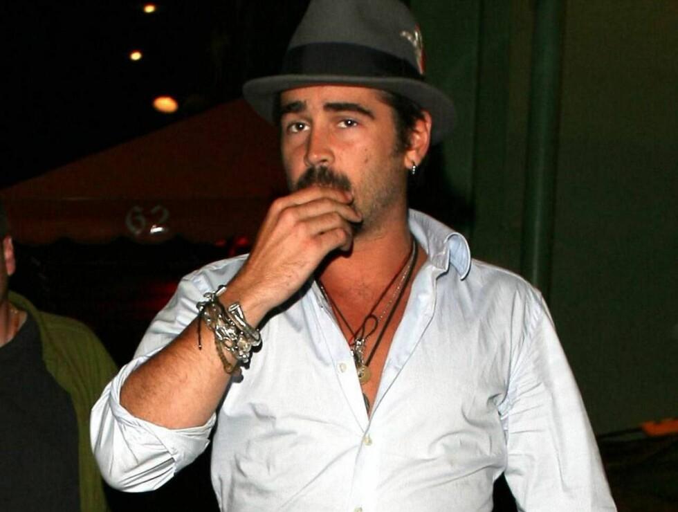 """VILLMANN: Colin Farrell drakk på seg ølpupper under """"Miami Vice""""-innspillingen. Foto: All Over Press"""