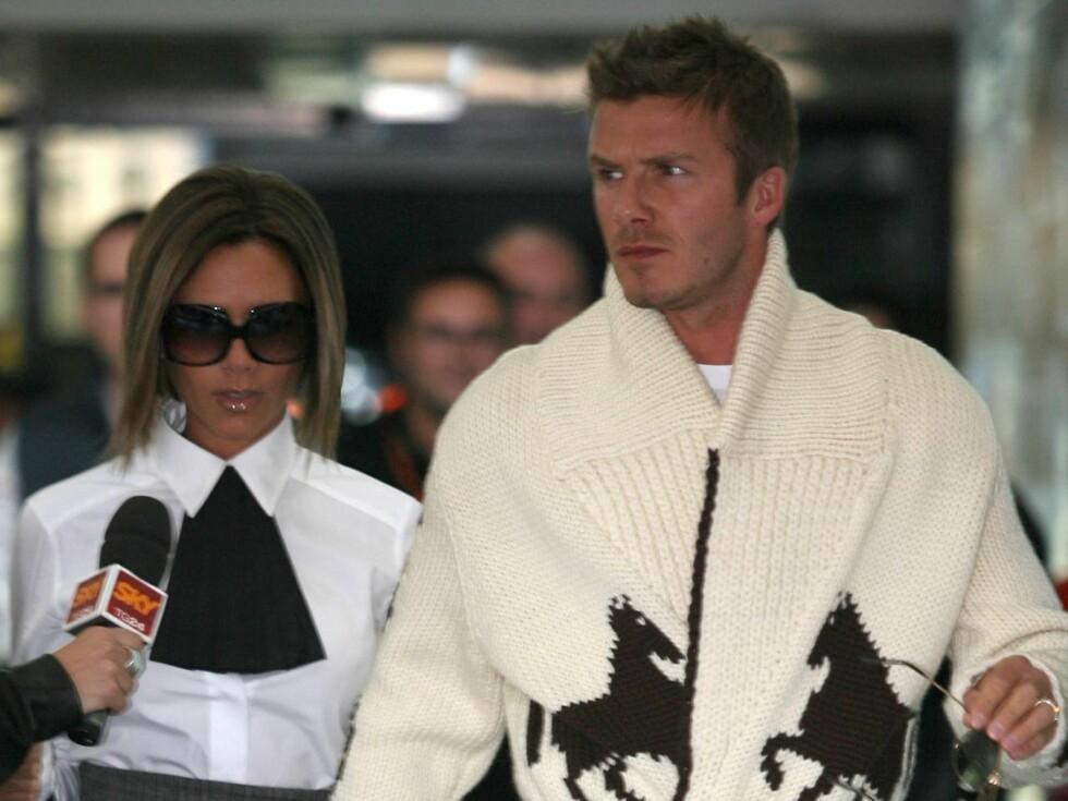 PÅ FLYTTEFOT: Superparet David og Victoria Beckham flytter til LA... Foto: All Over Press