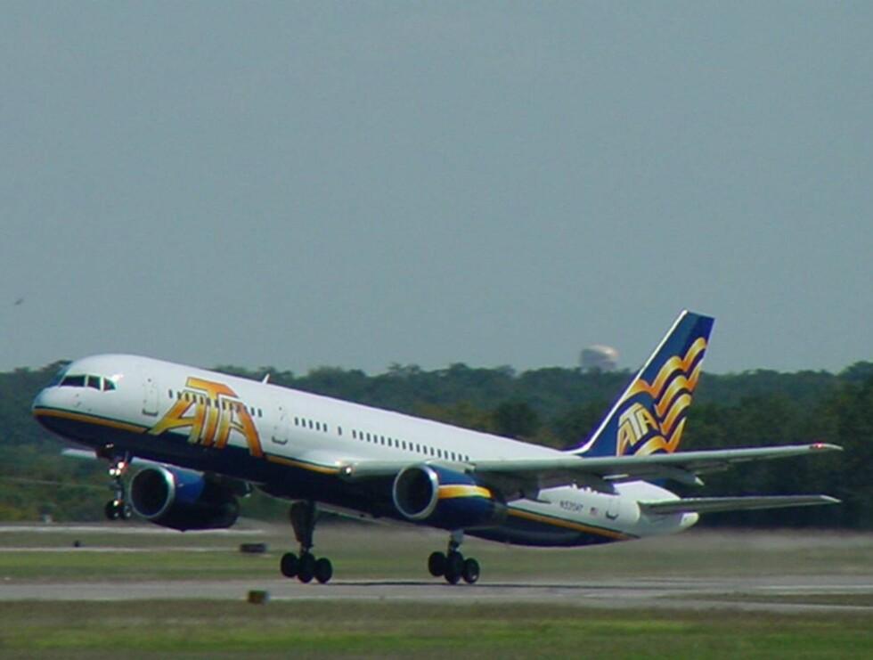 SPESIALFLY: 200 fans, et band og en scene. Det er en Boeing 757 - som denne - som skal huse konserten.