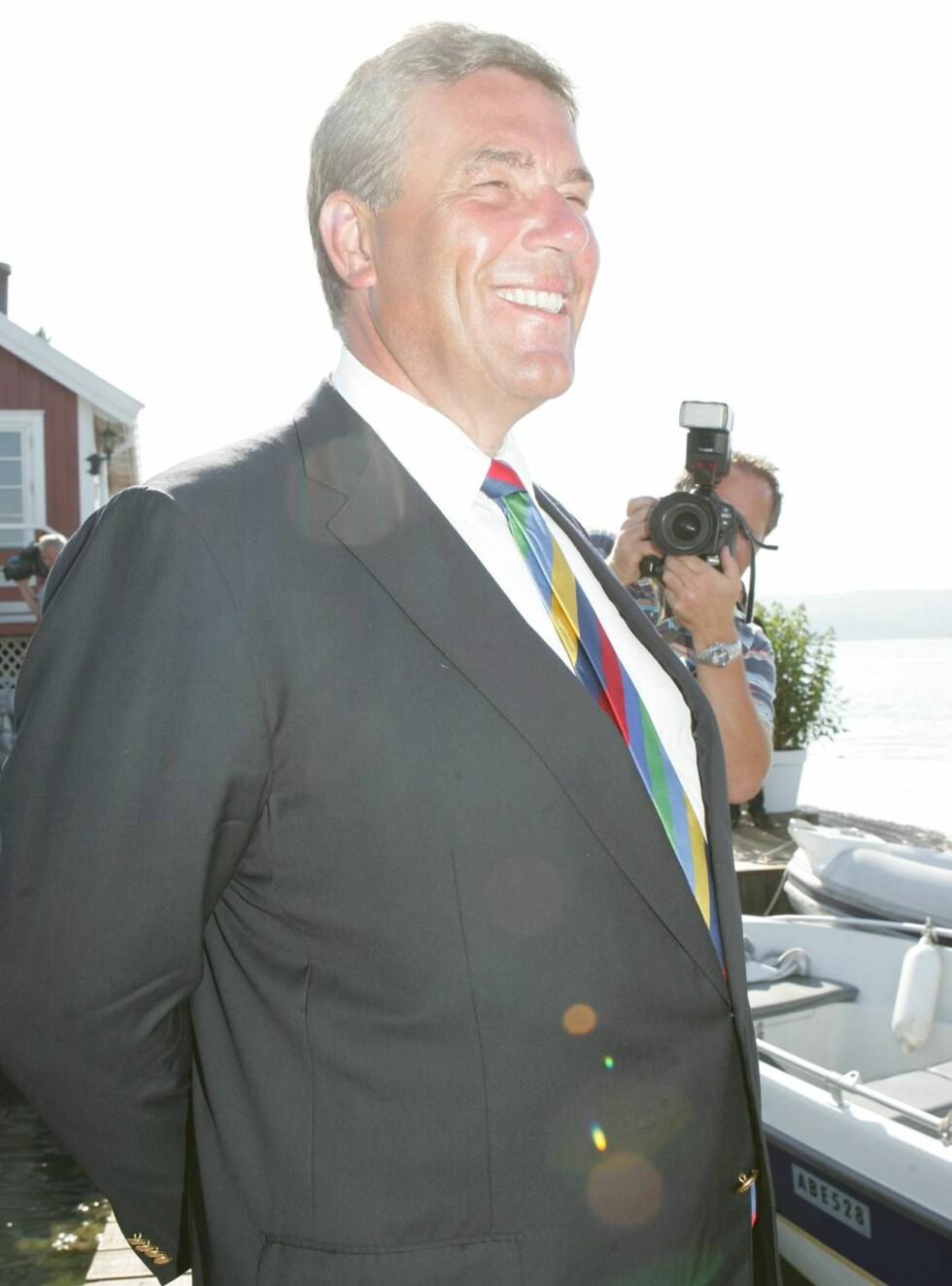 KUNSTINTERESSERT: Stein Erik Hagen - nå også portrettert av Nokas-raner Johnny Thendrup. Foto: Andreas Fadum, Se og Hør