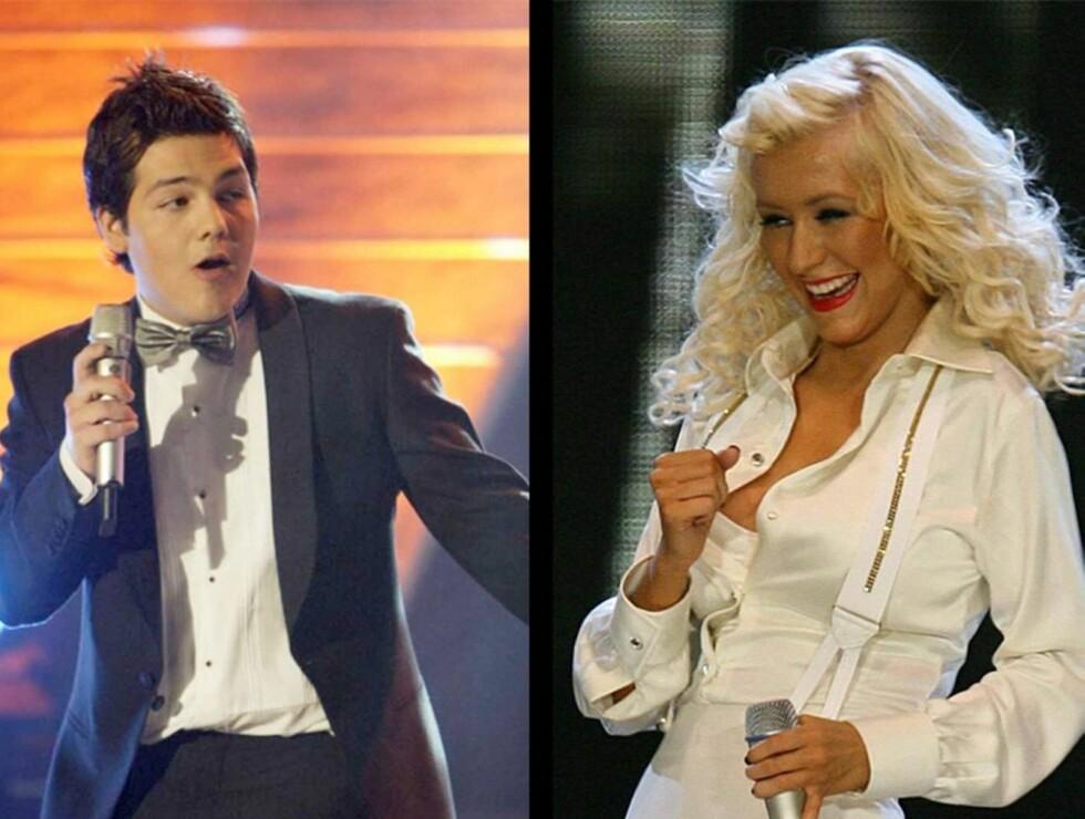 FEST: Alejandro Fuentes drar 20. januar til Cannes. Dit skal også sangfuglen Christina Aguilera! Foto: AP/Scanpix
