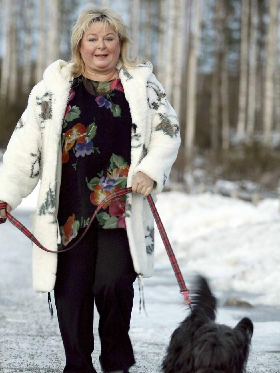 FLOTT: - Ukjente forteller meg hvor flott jeg ser ut, stråler Kikki Danielsson i dag. Foto: All Over Press