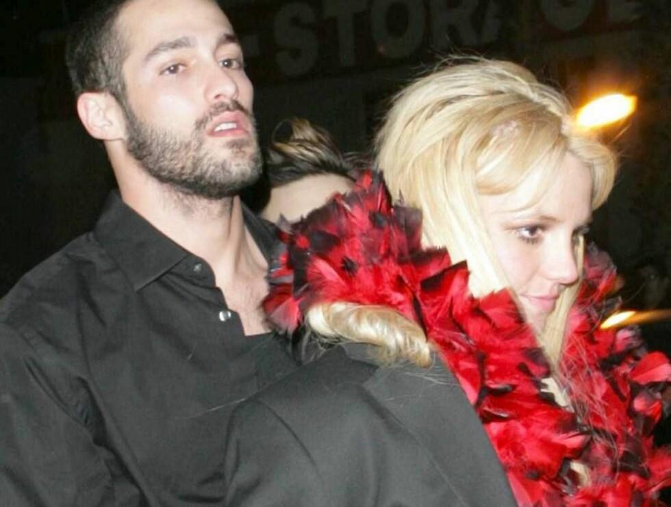 PÅ FEST: Isaac Cohen og Britney Spears klar for enda en fest! Foto: All Over Press