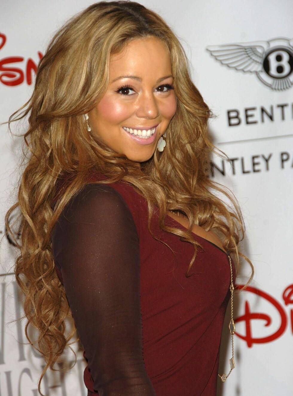 EKSENTRISK: Mariah Carey har mye rart for seg... Foto: All Over Press