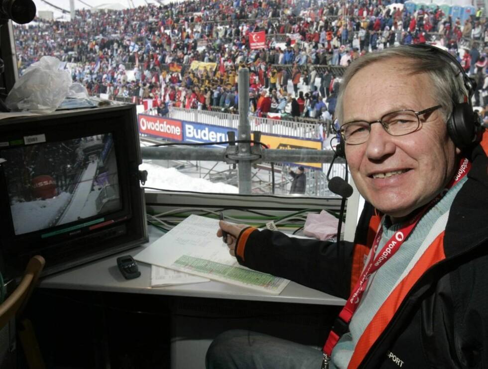 TV-KJENDIS: Arne debuterte i TV-sporten på begynnelsen av 60-tallet. Nå er han en av de mest profilerte ekspertene i NRK. Foto: SCANPIX