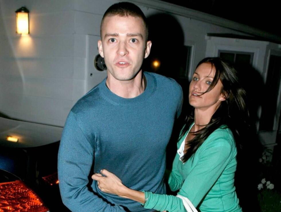 PAR: Justin og Cameron har vært sammen i 3,5 år. Nå hevder flere kilder av forholdet er over.  Foto: All Over Press