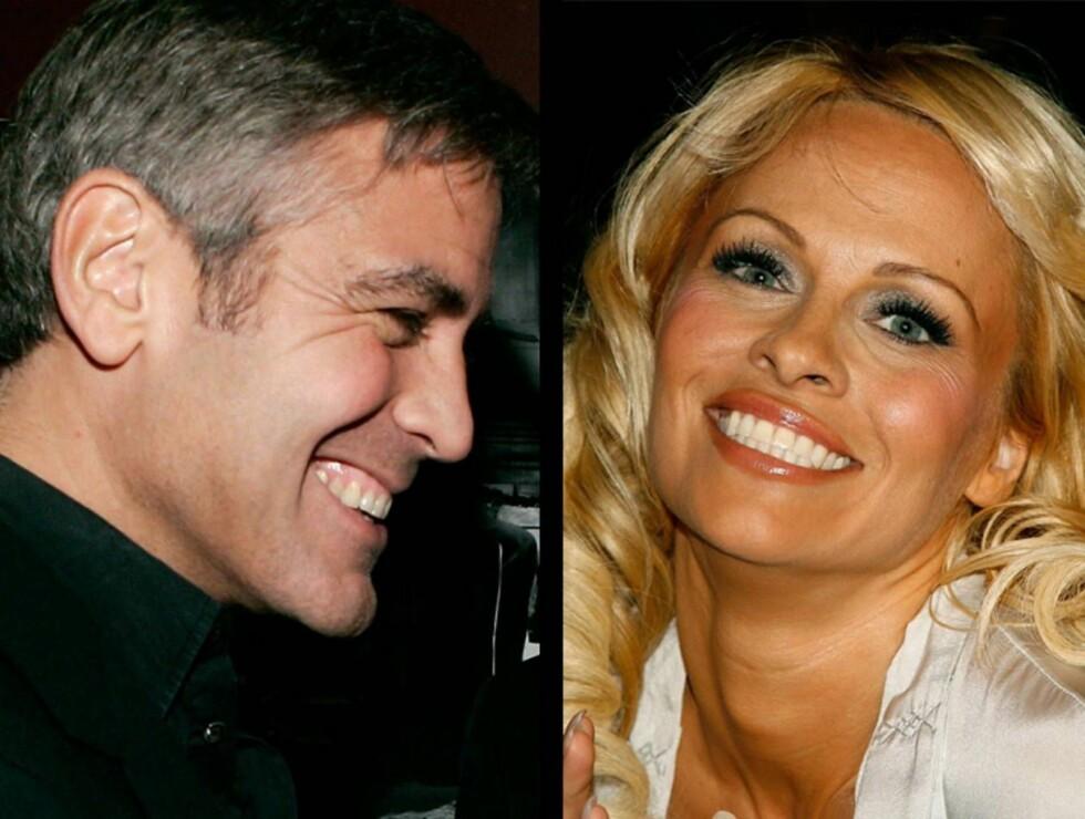 """NEI: George Clooney hevder at han ikke har sett """"kjæresten"""" Pamela Anderson på syv år. Foto: All Over Press"""
