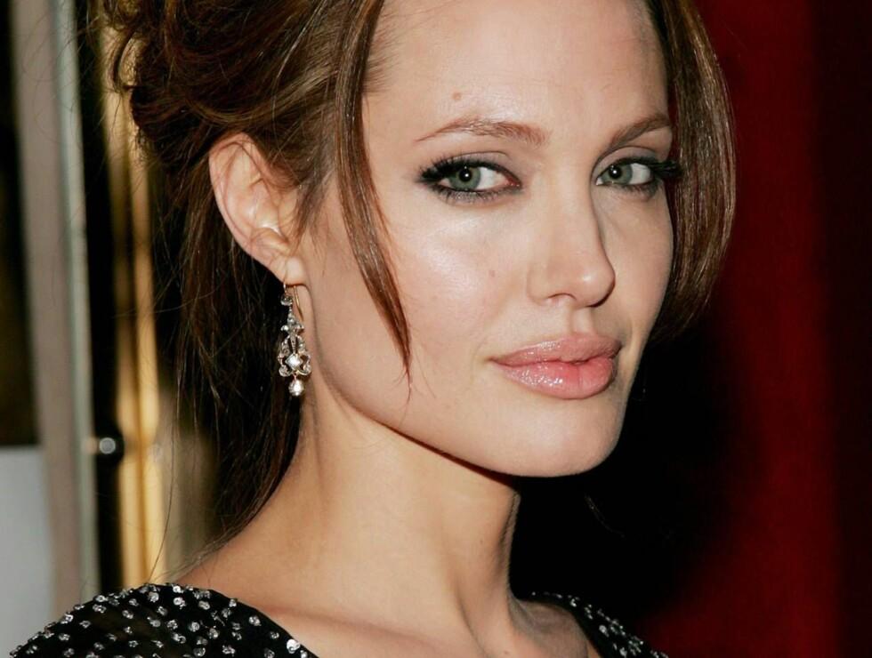 PORTRETTERT: Noen mener tilbedelsen av Angelina Jolie går litt langt... Foto: All Over Press