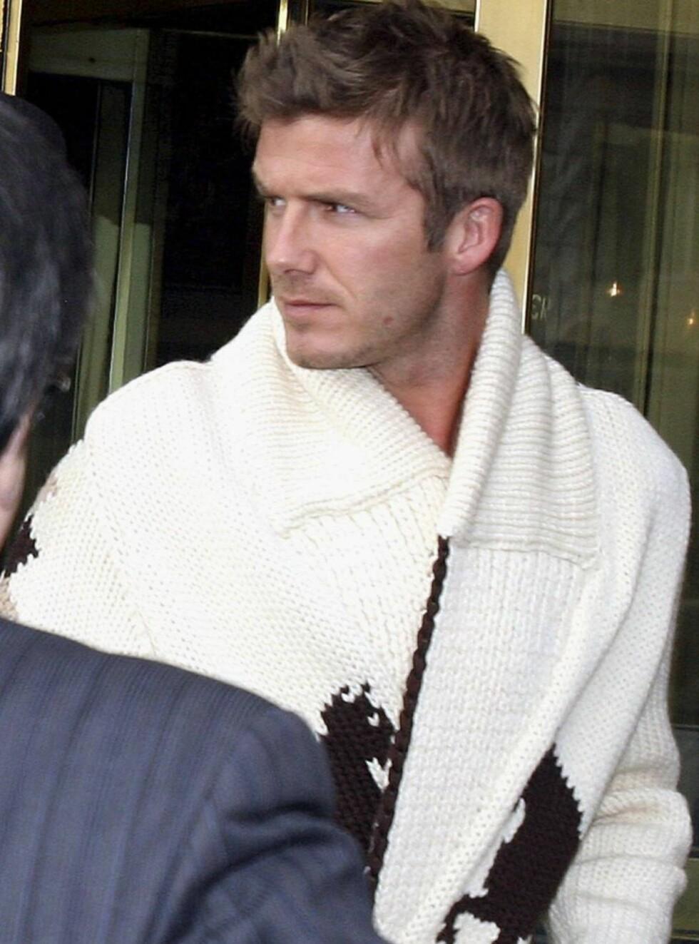 MISFORNØYD: David trives i Madrid og vil ikke flytte til Malibu. Foto: All Over Press