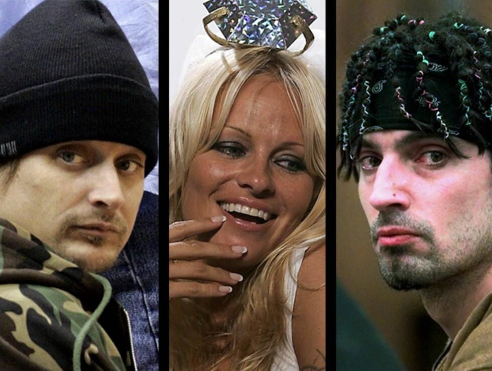 DRAMA: Kid Rock vil ha Pamela tilbake, Pamela er på jakt etter en ny mann - og Tommy Lee syns det hele er rasende festlig. Foto: AP/Scanpix