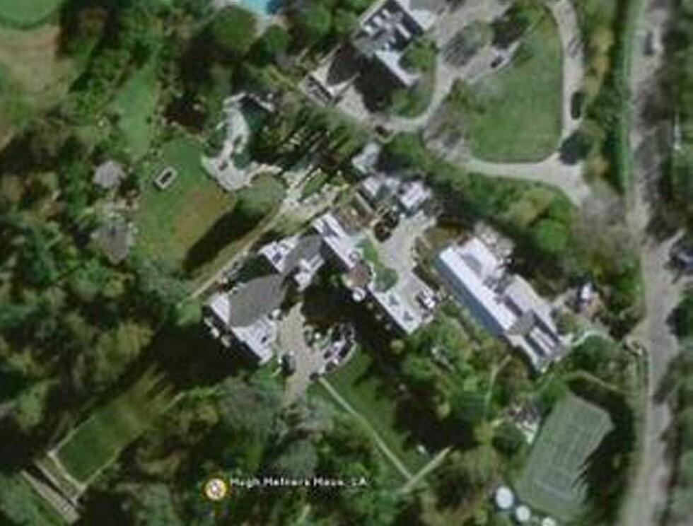 PALASS: Denne eiendommen regnes som en av LAs flotteste. Hvem eieren er, finner du ut i vår bildespesial! Foto: Google Earth