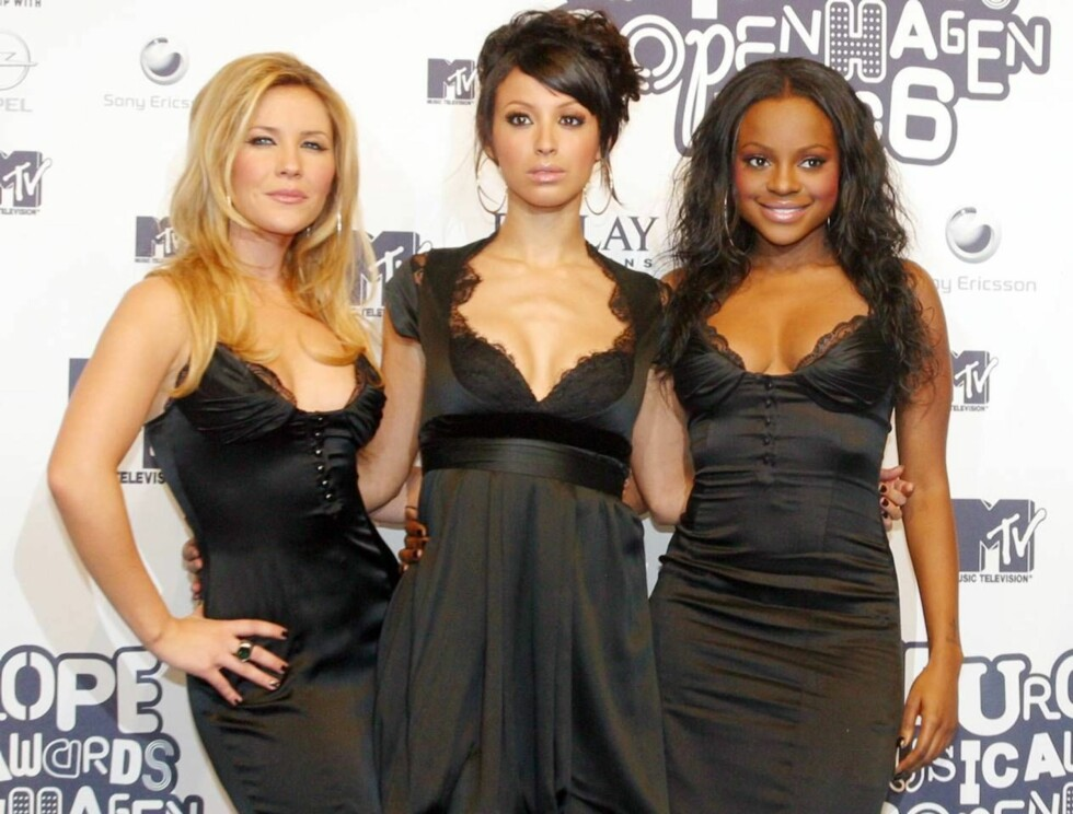 """FLOTTE: Heidi Range, Amelie Berrabah og strippeklare Keisha gjør stor suksess i Sugababes. Sammen synger de hits som """"Hole In the Head"""", """"Overload"""" og """"Easy"""". Foto: All Over Press"""