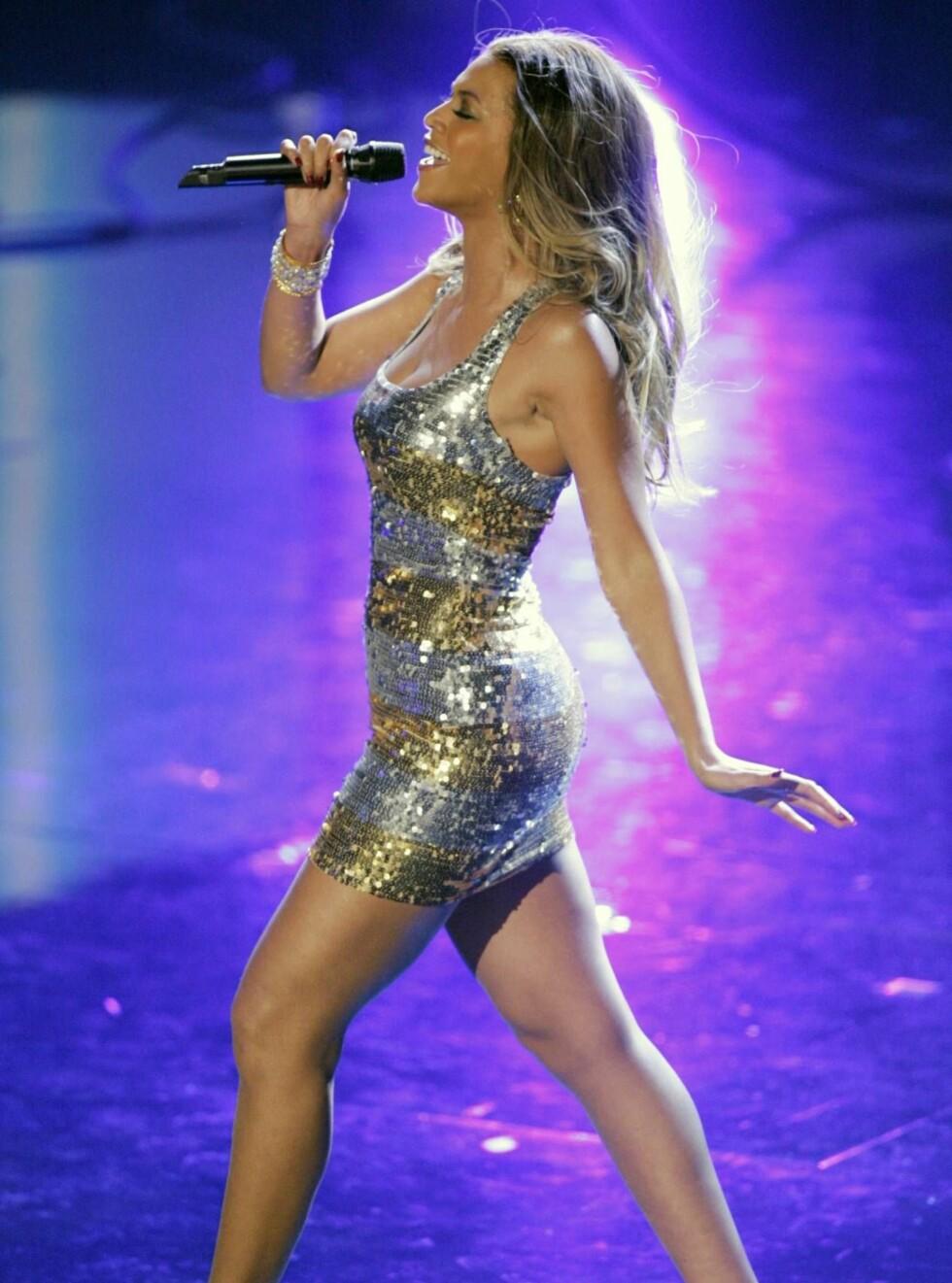 TYNN: Beyoncé har tatt av hele 10 kilo, men hun ha dem tilbake. Nå er hun klar for å spise hele julen! Foto: AP/Scanpix