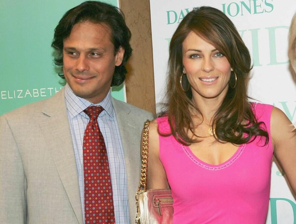 MOTESLAVE: Liz Hurley er glad i rosa. Det får gjestene erfare når modellen gifter seg med Arun Nayar i mars. Foto: All Over Press