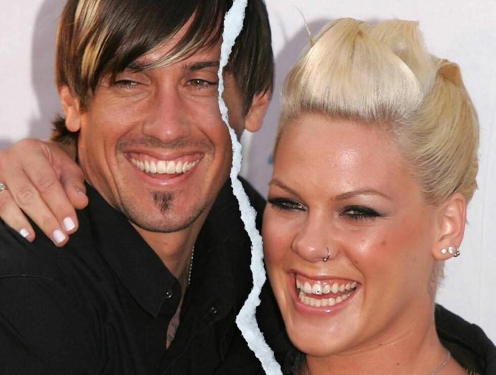 PAR: Carey og Pink giftet seg i januar 2006. Kommer ekteskapet bare til å vare et år? Foto: AP/Scanpix