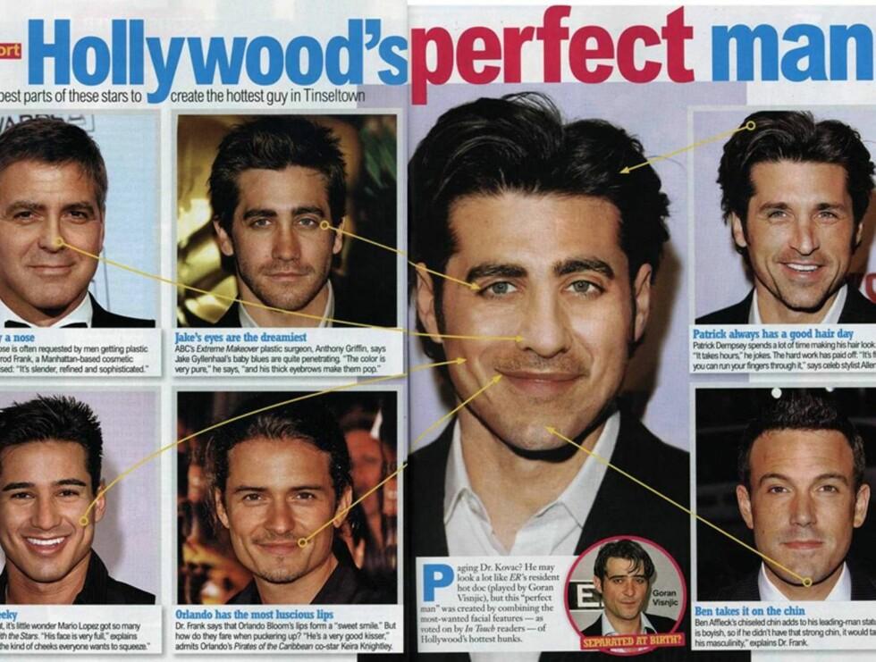 """FLOTT?: """"Hollywoods mest perfekte mann"""" er tittelen på In Touch sitt tapte forsøk ... Foto: Faksimile"""