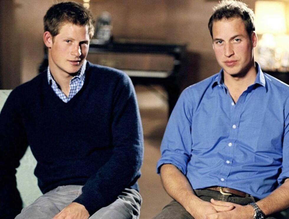 MINNES MAMMA: Prins Harry (t.v.) og prins William arrangerer konsert på Wembley. Foto: AP