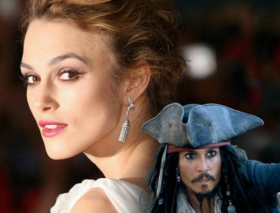 ALDRI MER PIRATES: Keira Knightley og Johnny Depp.. Foto: Getty/All Over/Filmweb