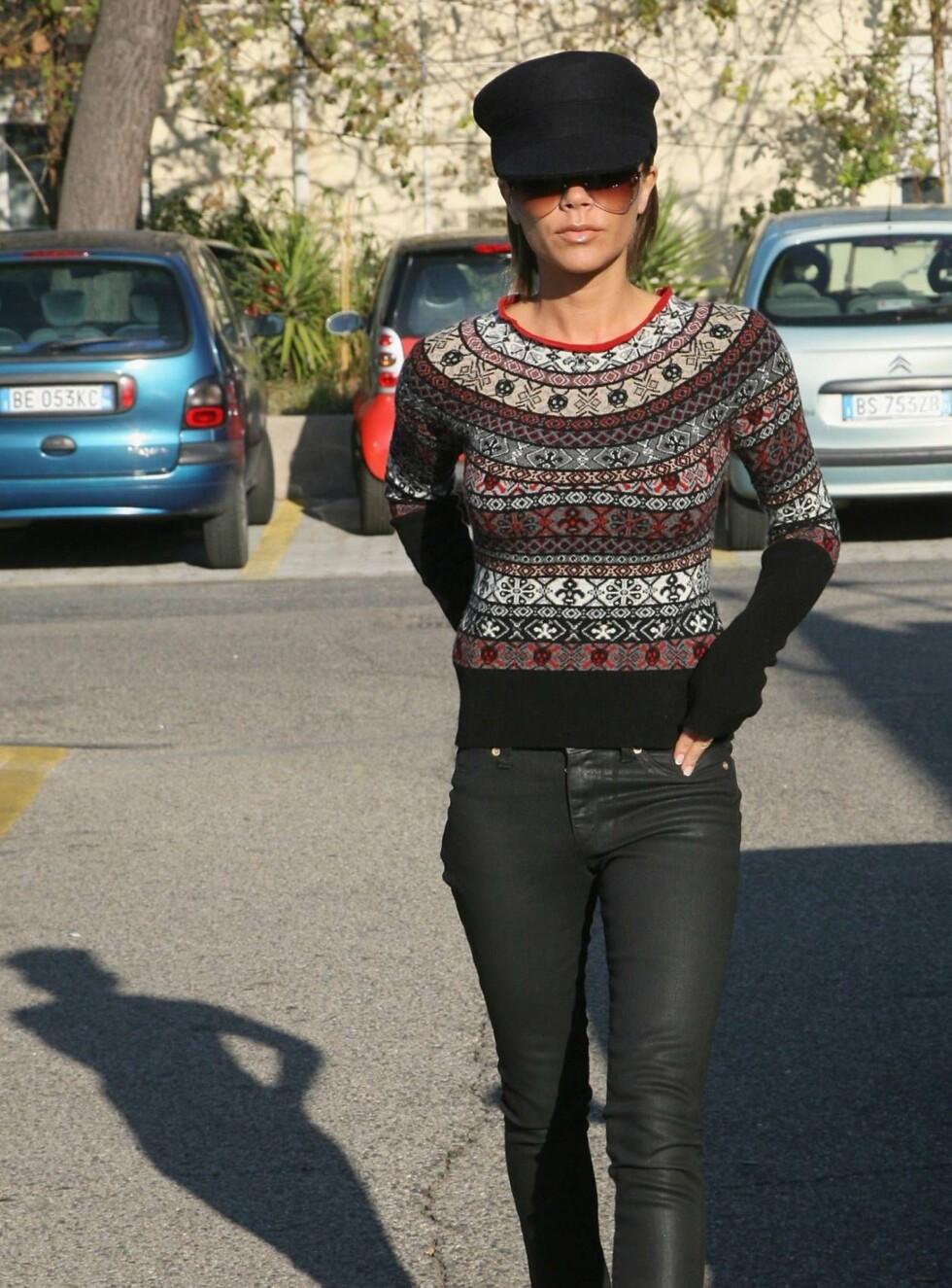 TYNN: Victoria Beckhams diett er neppe sunn, men den ser ut til å funke... Foto: All Over Press
