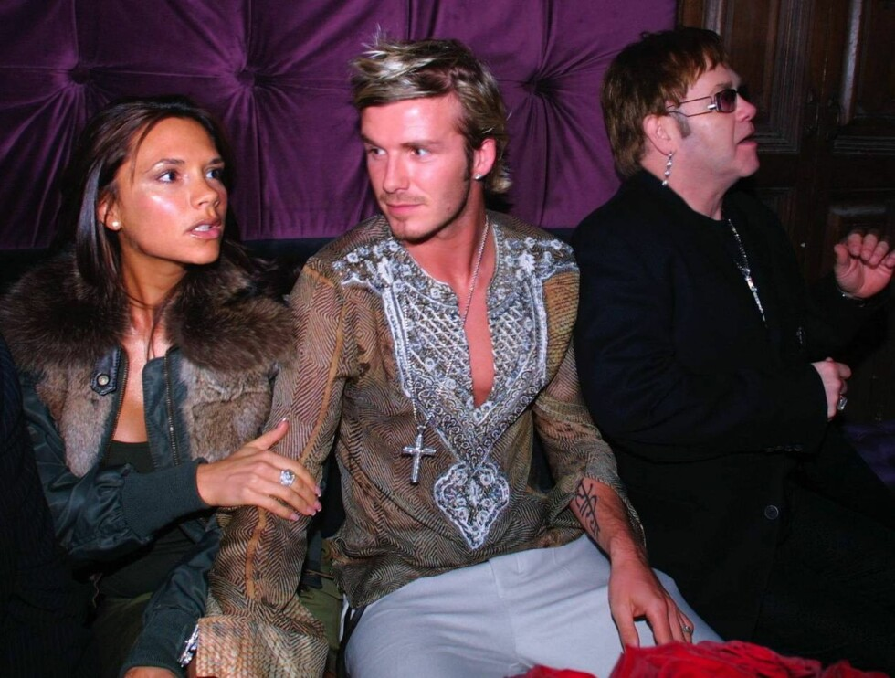 © Mission Pictures David and Elton's close friend Patrick Cox hosted this special event in honour of David's 40th Birthday last night at Jewel a new Soho bar set to trake over as the west ends 'place to be'  David and Victoria Beckham and elton John  Foto: All Over Press