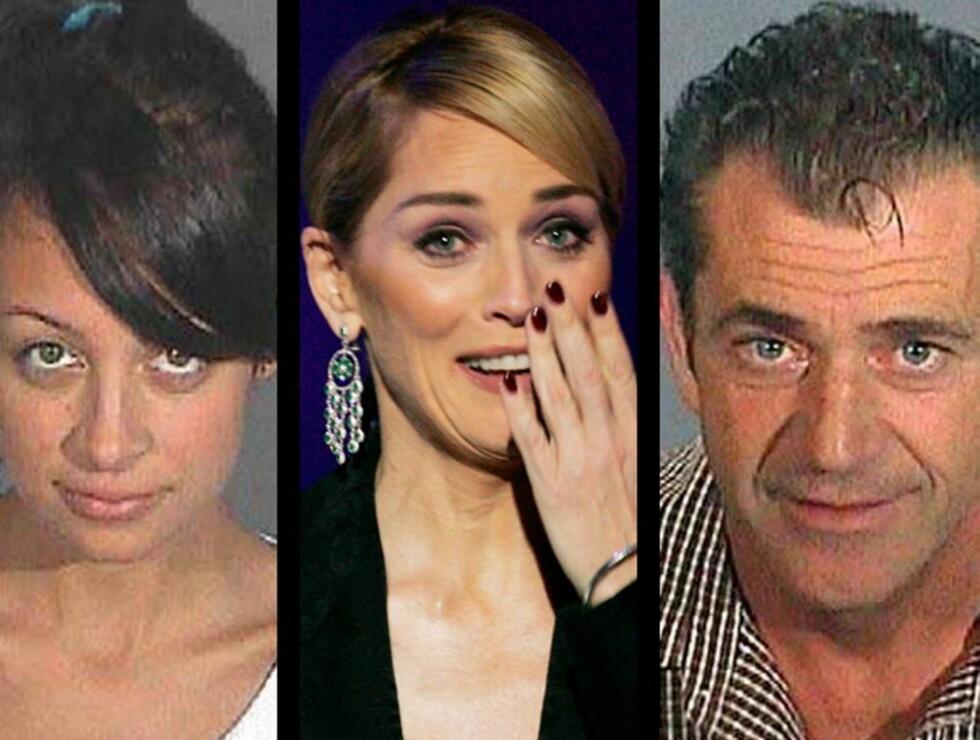 AU DA: Nicole Richie narkokjørte, Sharon Stone brøt kongelig etikette og Mel Gibson fyllehetset jøder i 2006. Men var de egentlig verst? Du avgjør! Foto: AP/Scanpix