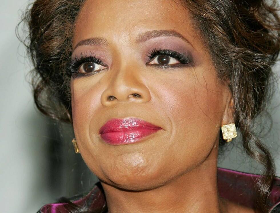 ADOPTIV MOR TIL TI: Vi trodde Oprah var barnløs. Nå viser det seg at hun er mor til ti! Foto: All Over Press